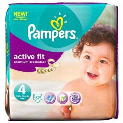 Pampers - 37 Couches Active Fit taille 4 sur Les Couches
