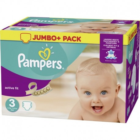 Pampers - 360 Couches Active Fit taille 3 sur Les Couches