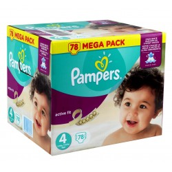 Pampers - 54 Couches Active Fit taille 4 sur Les Couches