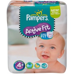 Pampers - 50 Couches Active Fit taille 4+