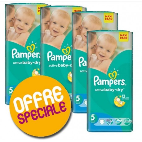 Pampers - Maxi Giga Pack 232 Couches Active Baby Dry 5 sur Les Couches