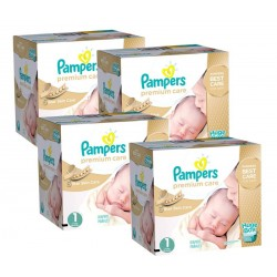 Pampers -   Giga Pack 308 Couches Premium Care taille 1 sur Les Couches