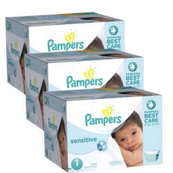 Pampers - Maxi Giga Pack 504 Couches New Baby Sensitive taille 1 sur Les Couches