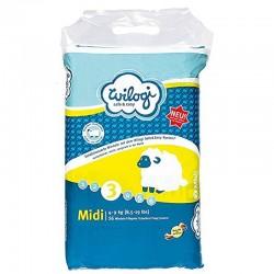 Wilogi - Pack 56 Couches Bébé à Bord taille 3 sur Les Couches