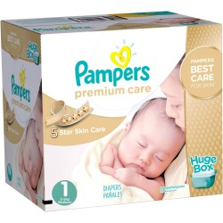 Pampers - Giga pack 164 Couches Premium Care taille 1 sur Les Couches