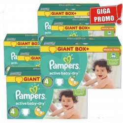 Pampers - Giga Pack 792 Couches Active Baby Dry taille 4
