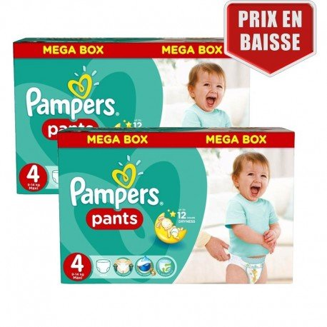 Pampers - Maxi Pack 282 Couches Baby Dry Pants taille 4 sur Les Couches