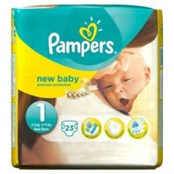 Pampers - Pack 23 Couches New Baby taille 1
