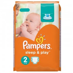 Pampers - Pack 68 Couches Sleep & Play taille 2 sur Les Couches