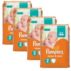 Pampers - Giga pack 204 Couches Sleep & Play taille 2 sur Les Couches