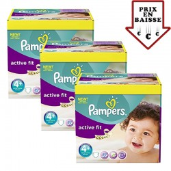 Pampers - pack Jumeaux 470 Couches Active Fit taille 4+ sur Les Couches