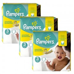 Pampers - Maxi Giga Pack 240 Couches Premium Protection - New Baby taille 3