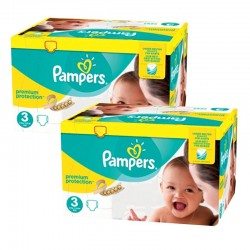 Pampers - Maxi Giga Pack 400 Couches Premium Protection - New Baby taille 3 sur Les Couches