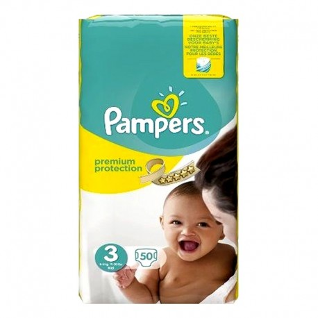 Pampers - Pack 50 Couches Premium Protection - New Baby taille 3 sur Les Couches