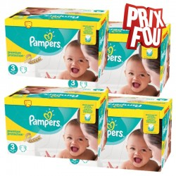 Pampers - Pack Jumeaux 650 Couches Premium Protection - New Baby taille 3