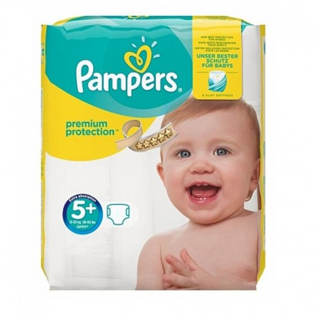 Pampers - Pack 32 Couches Premium Protection - New Baby taille 5+ sur Les Couches