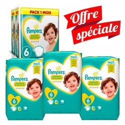 Pampers - Giga Pack 217 Couches Premium Protection - New Baby taille 6