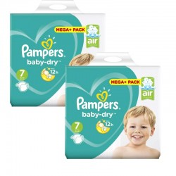 Pampers - Giga Pack 112 Couches Baby Dry taille 7 sur Les Couches