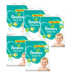Pampers - Maxi Giga Pack 168 Couches Baby Dry taille 7 sur Les Couches