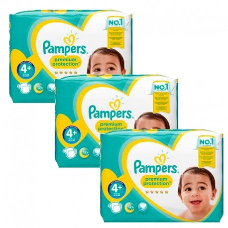 Pampers - Mega Pack 186 Couches Premium Protection - New Baby taille 4+ sur Les Couches