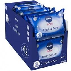 Nivea - Giga Pack 756 Lingettes Bébés - Fresh sur Les Couches
