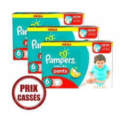 Pampers - Maxi Giga Pack 192 Couches Baby Dry Pants taille 6 sur Les Couches