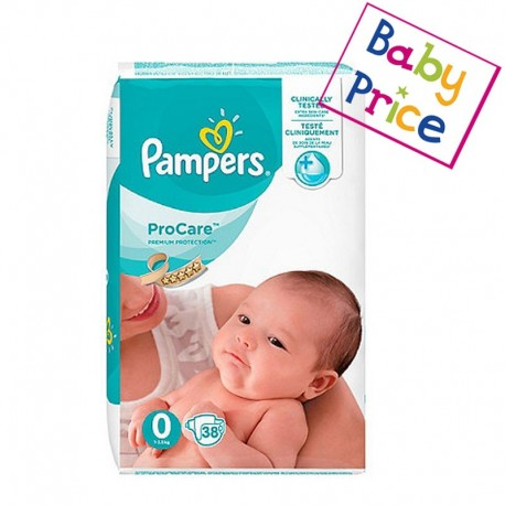 Pampers - Pack 38 Couches ProCare Premium protection taille 0 sur Les Couches