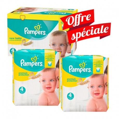 Pampers - Mega Pack 312 Couches New Baby - Premium Protection taille 4 sur Les Couches