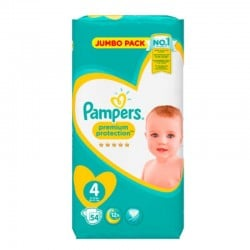 Pampers - Pack 54 Couches New Baby - Premium Protection taille 4 sur Les Couches