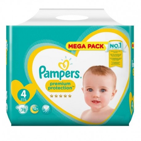 Pampers - Pack 78 Couches New Baby - Premium Protection taille 4 sur Les Couches