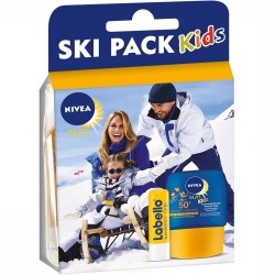 Pack Nivea Kids Ski Protection 50+ et Labello sur Les Couches