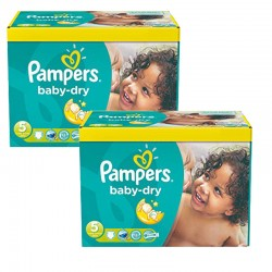 Pampers - Maxi Giga Pack 175 Couches Baby Dry taille 5+ sur Les Couches