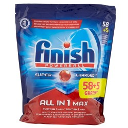 Finish Tabs 63 Powerball Super Charged Special Graisses All in 1 Max (1027 gr) sur Les Couches