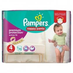 Pampers - Pack 32 Couches Active Fit Pants taille 4 sur Les Couches