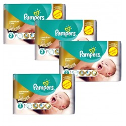 Pampers - Maxi Giga Pack 266 Couches New Baby - Premium Care taille 2 sur Les Couches