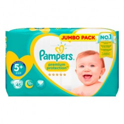 Pampers - Pack 45 Couches New Baby taille 5+ sur Les Couches