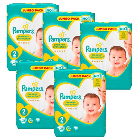 Pampers - Maxi Pack 340 Couches New Baby - Premium Protection taille 2 sur Les Couches