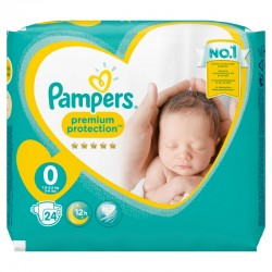 Pampers - Pack 24 Couches New Baby taille 0 sur Les Couches