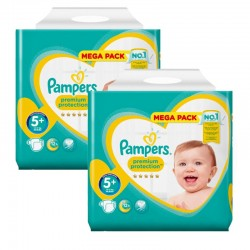 Pampers - Maxi Pack 270 Couches New Baby - Premium Protection taille 5+ sur Les Couches