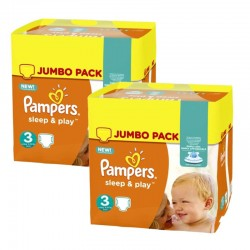 Pampers - Maxi mega pack 410 Couches Sleep & Play taille 3 sur Les Couches