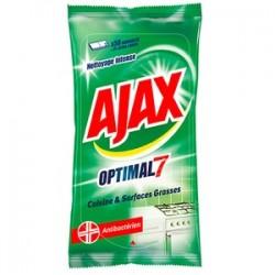 Ajax Lingettes 50 pièces Optimal 7 Cuisine & Surfaces Grasses sur Les Couches