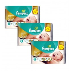 Pampers - Maxi Giga Pack 190 Couches New Baby - Premium Care taille 2 sur Les Couches