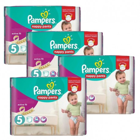 Pampers - Maxi Giga Pack 330 Couches Active Fit taille 5 sur Les Couches
