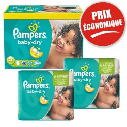 Pampers - Giga Pack 225 Couches Baby Dry taille 5+