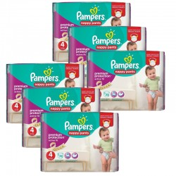 Pampers - Giga Pack 224 Couches Active Fit - Pants taille 4
