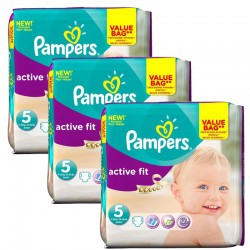 Pampers - Maxi Giga Pack 141 Couches Active Fit taille 5