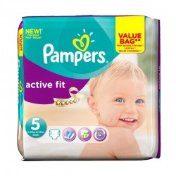 Pampers - Pack 47 Couches Active Fit taille 5 sur Les Couches