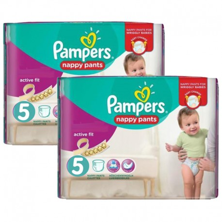 Pampers - Maxi Giga Pack 180 Couches Active Fit - Pants taille 5 sur Les Couches