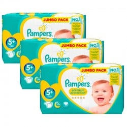 Pampers - Maxi Pack 135 Couches New Baby - Premium Protection taille 5+