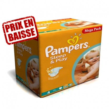 216 Couches Pampers Sleep Play Taille 4 En Promotion Sur Les Couches